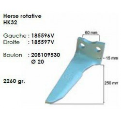 DENT DE HERSE G. HK32 ( 250 mm ) HOWARD - soldé , plus livrable