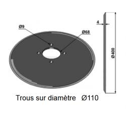 DISQUE SEMEUR D.400 KUHN ( NOUS CONSULTER , voir aussi en adaptable )